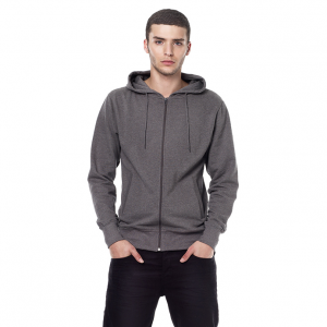 Earth Positive Men's Organic Fashion Zip-up Hoodie Herr